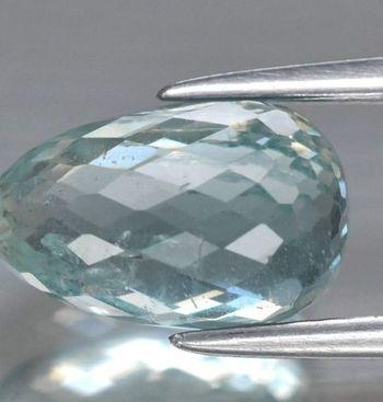 2.84 ct Natural Aquamarine Briolette Cut Loose Gemstone