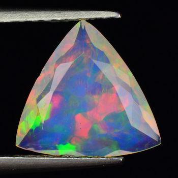 1.01 ct Natural Welo Opal Trillion Cut Loose Gemstone