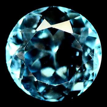 4.13 ct VS Natural Blue Topaz Round Cut Loose Gemstone