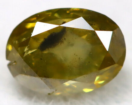 .28 ct Natural Olive Green Diamond Oval Cut Loose Gemstone