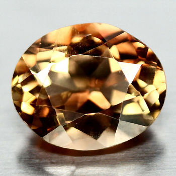 1.73 ct Natural Champagne Topaz Oval Cut Loose Gemstone