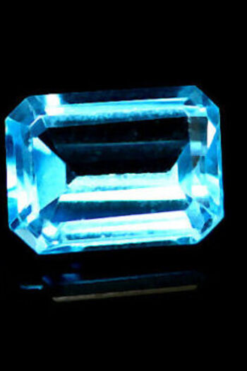 1.30 ct Natural Blue Topaz Octagon Cut Loose Gemstone
