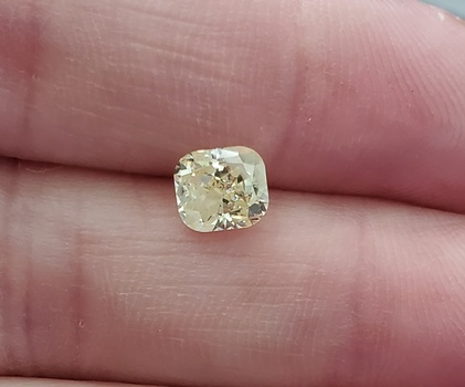 CERTIFIED .96 ct Natural Yellow Diamond Cushion Cut Loose Gemstone