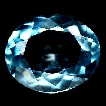 1.60 ct VVS Natural Blue Topaz Oval Cut Loose Gemstone