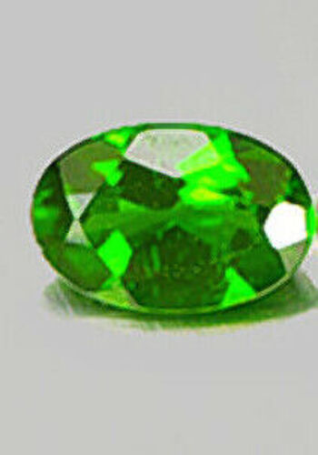 3 x 5mm Natural Russian Chrome Diopside Oval Cut Loose Gemstone