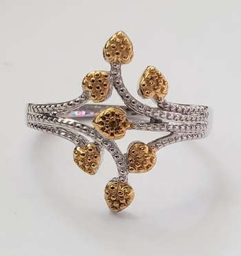 No Reserve Natural Yellow Diamond .925 Sterling Silver Ring