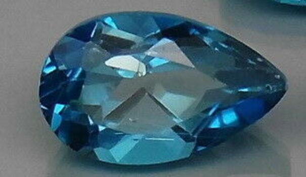 7x5mm Natural London Blue Topaz Pear Cut Loose Gemstone