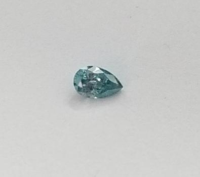 .043 ct Natural Blue Diamond Pear Cut Loose Gemstone