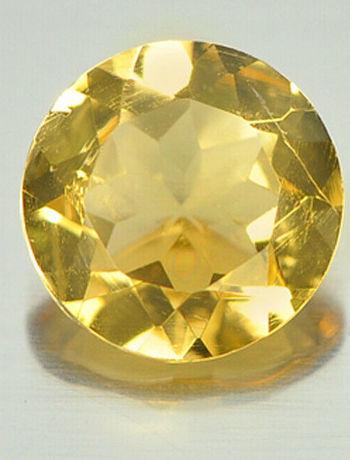5mm VVS Natural Citrine Round Cut Loose Gemstone
