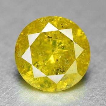 .40 ct Natural Yellow Diamond Round Cut Loose Gemstone