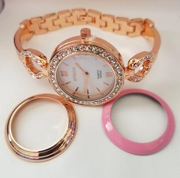 Genuine Austrian Crystal Interchangeable Rings Watch