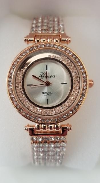 Brand New Genuine Floating Austrian Crystal Watch