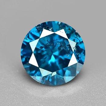 .08 ct Natural Blue Diamond Round Cut Loose Gemstone Valentines