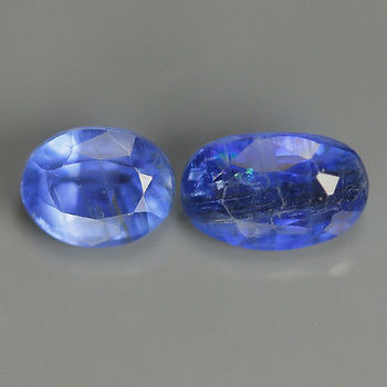 1.24 ct 2 Pieces Natural Kyanite Oval Loose Gemstone
