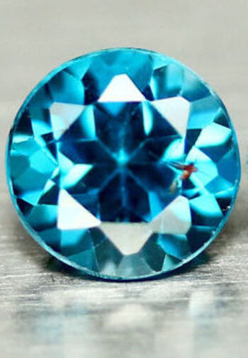 VVS 6MM Natural London Blue Topaz Round Cut Loose Gemstone