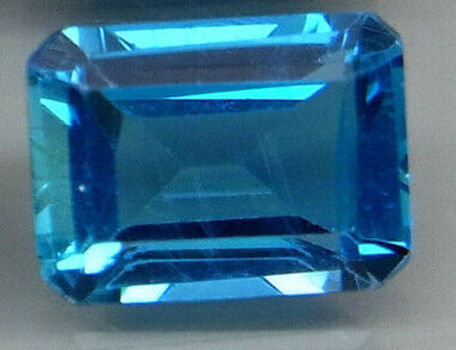 VVS 7x5MM Natural London Blue Topaz Emerald Cut Loose Gemstone