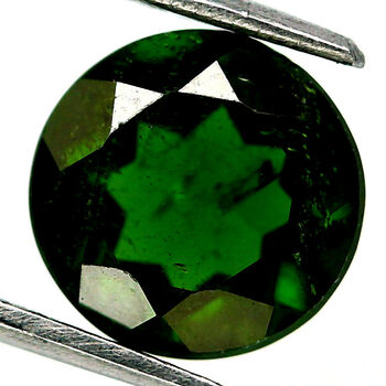 VVS 5mm Natural Chrome Diopside Round Cut Loose Gemstone