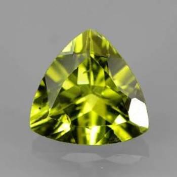 6mm VS Natural Peridot Trillion Cut Loose Gemstone