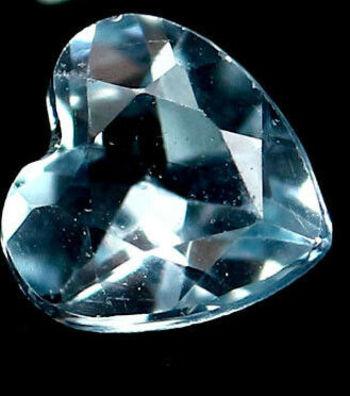 VVS Natural Blue Topaz Heart Cut Loose Gemstone
