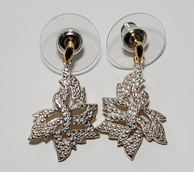 No Reserve Natural Diamond Dangle Earrings