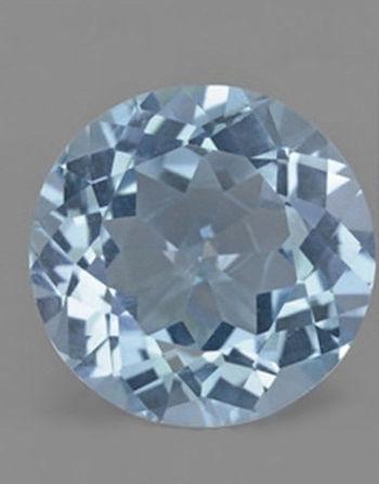 1.07 ct VVS Natural Blue Topaz Round Cut Loose Gemstone
