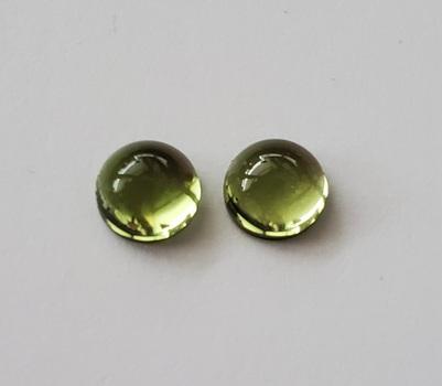 1.33 ct Natural Peridot Round Cab Cut Pair Loose Gemstone