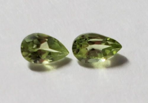 VVS Natural Peridot Pear Cut Pair Loose Gemstone