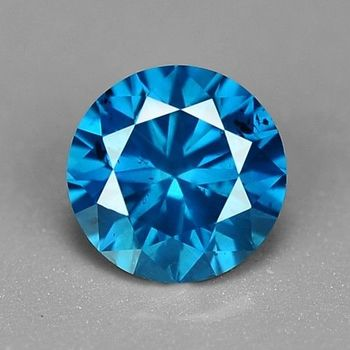 .09 ct Natural Blue Diamond Round Cut Loose Gemstone
