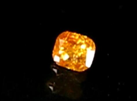 .19 ct Natural Orange Diamond Cushion Cut Loose Gemstone