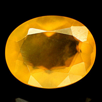 5.46 ct Natural Mexican Fire Opal Oval Cab Loose Gemstone