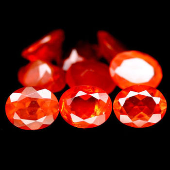 5 Pieces 5X4mm Mexican Fire Opal Oval Loose Gemstone