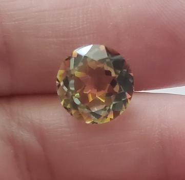 4.97 ct Natural Mystic Quartz Round Cut Loose Gemstone