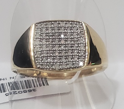 No Reserve .35 Natural Diamond 18k/.925 Sterling Silver Ring size 12