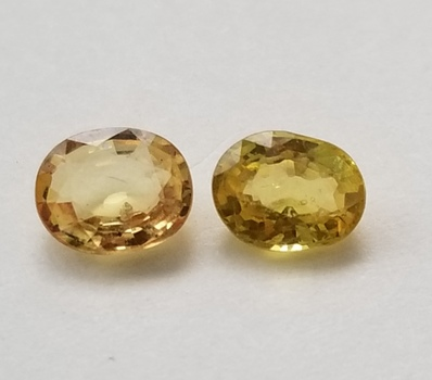 .91 ct Natural Yellow Sapphire 2 Pieces Oval Cut Loose Gemstone
