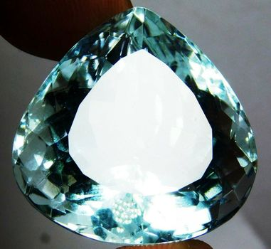 58.20 ct VS Ocean Blue Quartz Pear Cut Loose
