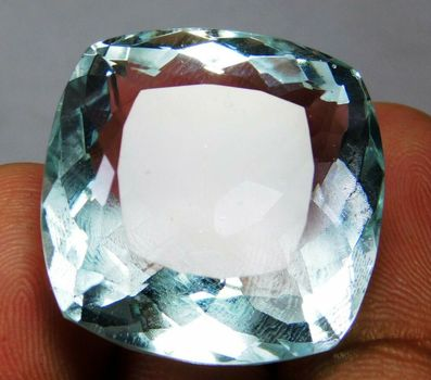49.90 ct VS Ocean Blue Quartz Cushion Cut Loose
