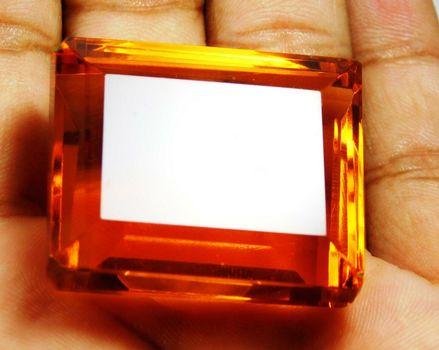 111.75 ct VS Golden Orange Quartz Octagon Cut Loose