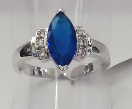 No Reserve Marquise Sapphire Ring Size 6