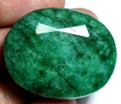 CERTIFIED 139.45 Natural Zambian Emerald Oval Cut Loose Gemstone
