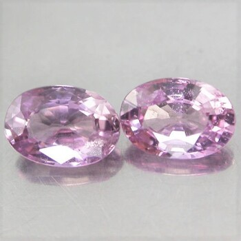 VVS Natural Pink Sapphire Oval Cut Pair Loose Gemstone