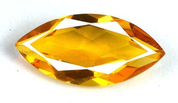 10 x 5mm VVS Natural Citrine Marquise Cut Loose Gemstone