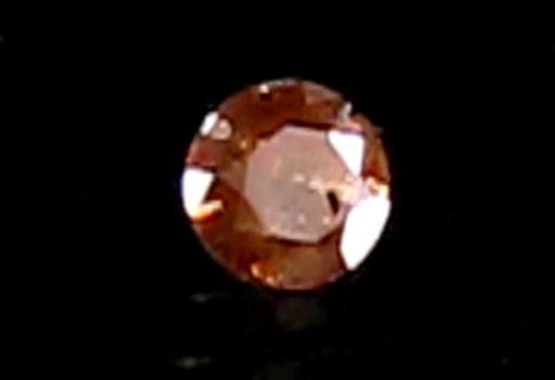 VIDEO Rare .36 ct Natural Orange Diamond Round Cut Loose Gemstone