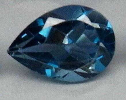 VVS Natural London Blue Topaz Pear Cut Loose Gemstone