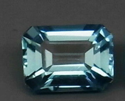 VVS Natural London Blue Topaz Emerald Cut Loose Gemstone