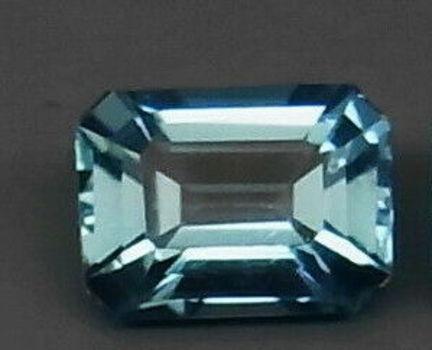 VVS Natural London Blue Topaz Emerald Cut Loose Gemstone