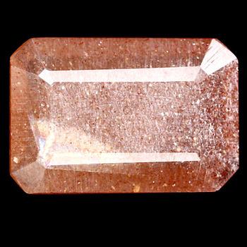 3.58 ct Natural Sunstone Octagon Cut Loose Gemstone