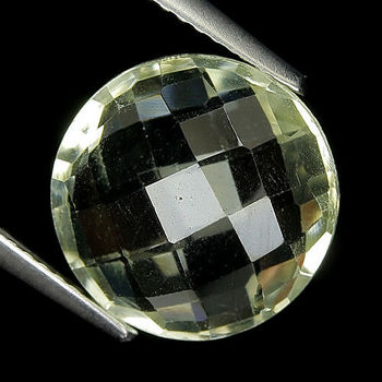 5.00 ct VVS Natural Green Amethyst Prasiolite Round Checkerboard Loose Gemstone
