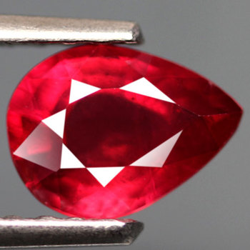 3.07 ct Natural Blood Red Ruby Pear Cut Loose Gemstone