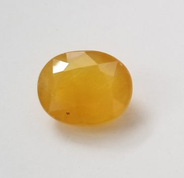 6.65 ct Natural Yellow Sapphire Oval Cut Loose Gemstone