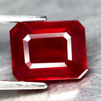 3.39 ct Vs1 Natural Ruby Octagon Cut Loose Gemstone